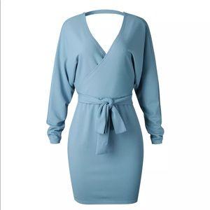 Dresses & Skirts - SALE! Was $35 Thin Ribbed V Neck CutOut Back Dress